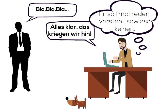 Kommunikationsschwierigkeiten können über BPMN gelöstwerden.