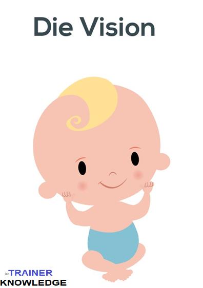 Ein Baby wird gezeigt. Das Baby ist die Vision der Eltern, Srum Master und Product Owner.