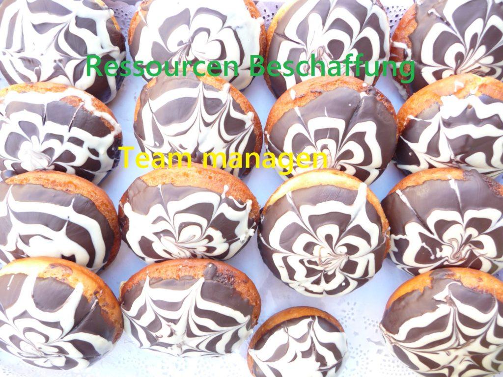 Prozesse des PmBok Guides, z.B.Einige Donuts als Platzhalter für Prozesse des PmBok Guides, z.B. Ressourcen Beschaffung Ressourcen Beschaffung