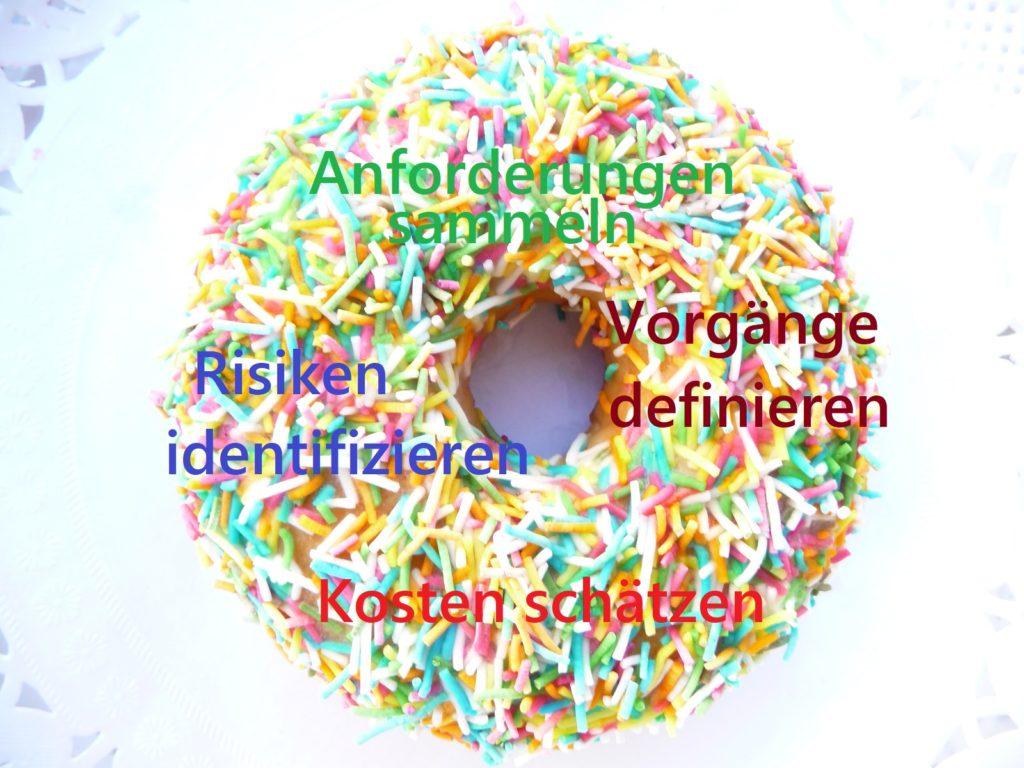 Ein Donut als Platzhalter für Prozesse des PmBok Guides, z.B. Vorgänge definieren