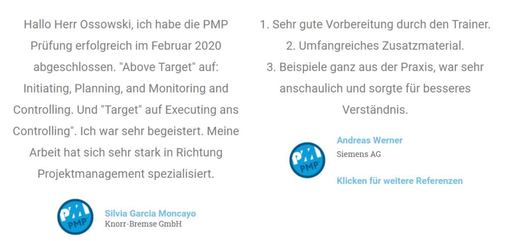Das Bild zeigt zwei Refernezen von Mitarbeitern der Knorr-Brmse GmbH und Siemens AG.