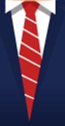 Das Bild zeigt eine rote Krawatte