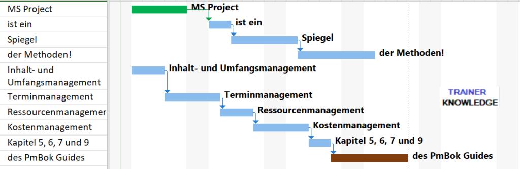 Gantt Chart aus MS Project.